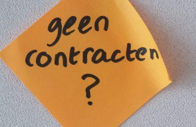 Geen contracten – betaalt cliënt?